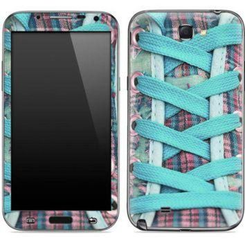 DCCKHD9 Turquoise Laced Converse Shoe Skin for the Samsung Galaxy Note 1 or 2