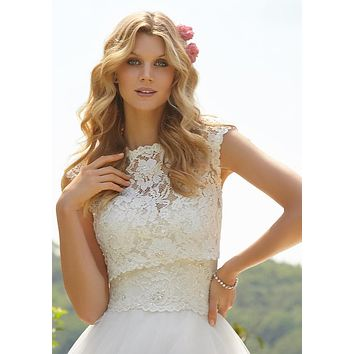 Mori Lee Lace Bridal Jacket 11015