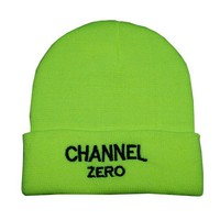 SSUR Channel Women Men Embroidery Beanies Knit Hat Cap-3