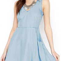 Skyblue Skater Mini Dress