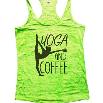 Yoga And Coffee Burnout Tank Top By Funny Threadz