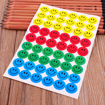 New 540pcs Colourful Round Smile Face emoji Stickers Decal Kids Children Teacher Praise Merit Home office