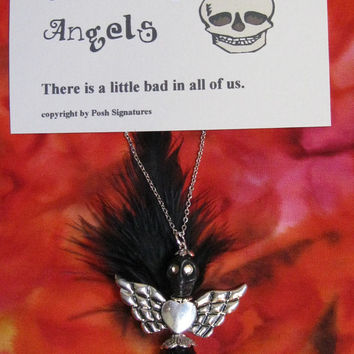 Halloween Necklace, Skull Jewelry, Día de Muertos, Day of the Dead, Handcrafted Skullies, Skullies Angels By Posh Signatures