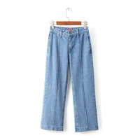 Pants Summer High Rise With Pocket Jeans [4919991620]