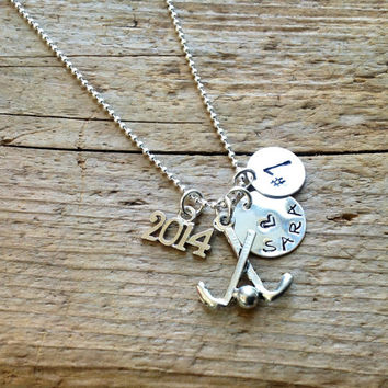 Field Hockey Senior 2015 Custom Personalized Player Pendant Ball Custom Charm
