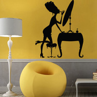 Wall Decals Vinyl Decal Sticker Art Murals Make Up Decor Girl Smarten Up Kj803