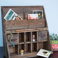 ModCloth Rustic Wooden It Be Lovely Desk Organizer