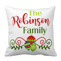 Christmas Family PILLOW - Christmas Ornament Pillow - Personalized Christmas Gift - Family Name Pillow-Christmas Pillow Cover or With Insert