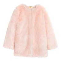 Faux Fur Jacket - Antique rose/unicorn - Ladies | H&M CA