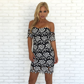 Outline Crochet Dress