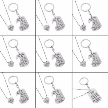 2017 There Is This Girl She Stole My Heart She Calls Me DADDY MOMMY MOM GRANDMA GRANDPA Heart Necklaces & Pendants Keychain