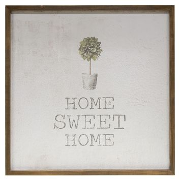 """Home Sweet Home - Framed Watercolor Wall Art 20"""""""