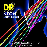 DR Strings Hi-Def NEON Multi-Color Coated Lite Electric Guitar Strings | GuitarCenter