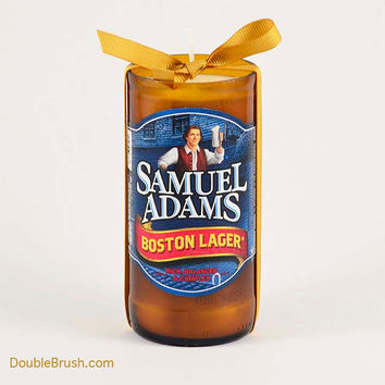 Samuel Adams Glass Bottle Soy Wax Candle