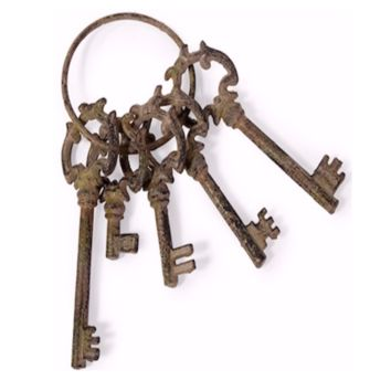French Quarter Decorative Skeleton Keys