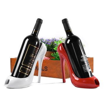 Stylish High Heel Shoe Wine Bottle Holder