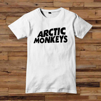Hot Arctic Monkeys Premium Logo t shirt T shirt White Black Dsign t-shirt men S,M,L,XL