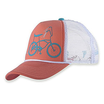 Pistil Women's Darlin Trucker Hat Coral and Travel Sunscreen (15 SPF) Spray Bundle