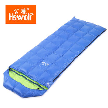 Male Wolf Autumn Season Exceed Light Down Sleeping Bag Outdoors Adult Camp Sleeping Bag Summer Camping Joint Sleeping Bag