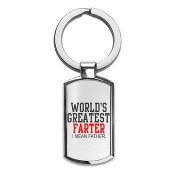 'World's Greatest Farter I Mean Father' Key Chain