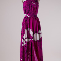 Tropical Breeze Maxi Dress - Magenta