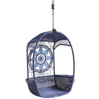 Swingasan® Blue Medallion Hanging Chair