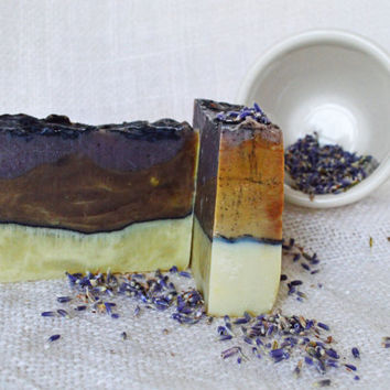 Green Lavender-- by RAH Soap.  Real All- Natural Handmade Organic Matcha Green Tea, Lavender Essential oil, And Sea Clay with Avocado oil