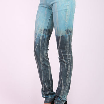Low Rise Ombre Skinny Jeans