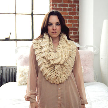 CROCHET PATTERN Funnel Infinity Cowl Scarf Wrap The PORTLAND