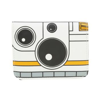 Licensed cool Star Wars Force Awakens BB-8 Droid Square Zipper Wallet Disney Loungefly NWT
