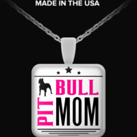 Pit Bull Mom - Necklace