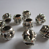 Free shipping 20Pcs/Lot Tibetan silver hair braid dread dreadlock beads clips cuffs approx 4.8mm hole NO.C2