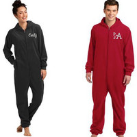 Adult Pajamas - Adult Onesuit - One Piece Pajamas - Embroidered Adult Pajamas - Matching Pajamas - Christmas Gifts - Funny PJ's - Pajamas