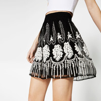 EMBROIDERED SKIRT - BOTTOMS-SALE-WOMAN | ZARA United Kingdom