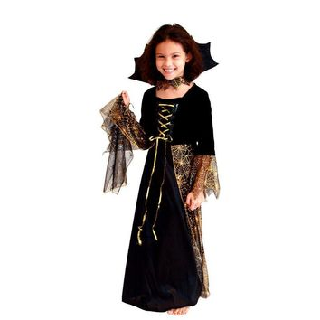 Spider Girl Children Cosplay Costume Hallowean Party witch Costumes for Kids Cute Dresses