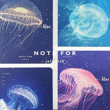 NOTE FOR JELLY FISH Series A5 Japanese Cute Notebook 100G Paper Blank Pages Sketchbook Paper DIY Diary Travel's Notebook Gift