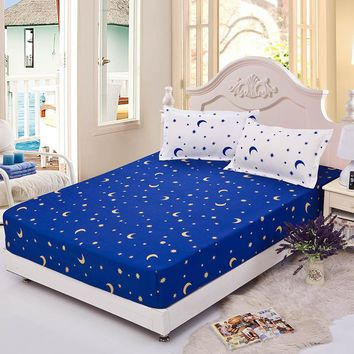 150/180x200cm Star printing fitted bed sheet elastic polyester