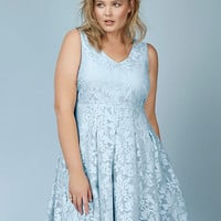 Rebel Wilson for Torrid Jacquard Skater Dress