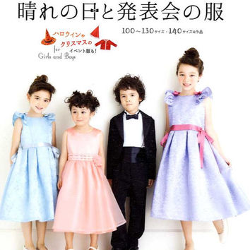 Sunny Day Formal Dresses and Clothes for Girls and Boys - Japanese Dress Pattern Book