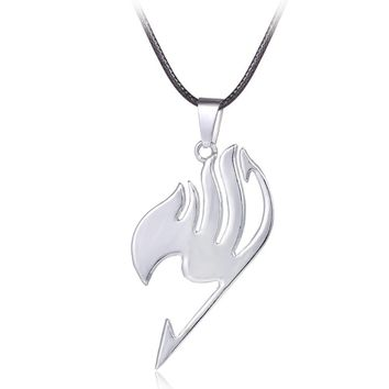 Badge Anime Fairy Tail Metal Necklace Cosplay Jewelry Anime Figure Pendant Necklace Accessories Jewelry For Men And Women