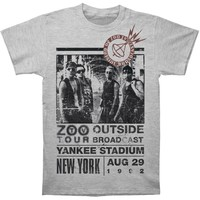 U2 Men's  Zoo Outside Tour Mens Slim Fit T Slim Fit T-shirt Heather