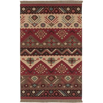 Artistic Weavers Megan Red 3 ft. 6 in. x 5 ft. 6 in. Area Rug-MEG-8 - The Home Depot