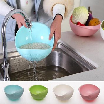 Wash Rice Sieve The Goods for Kitchen Cooking Tools Fruit Basket Plastic Clean Rice Machine Vegetables Basin cozinha 18*18*11cm
