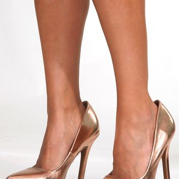 Just A Girl Heels: Rose Gold