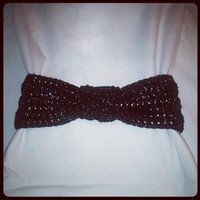 Black Sparkle Knotted Headband- Perfect for spring weather