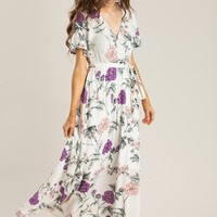 Bethany Off White Floral Maxi Dress