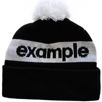 Example Text Logo Bobble Hat (Black/White) | The Official Webstore for Example