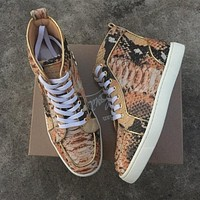 Cl Christian Louboutin Python Style #2257 Sneakers Fashion Shoes - Best Deal Online