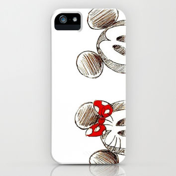Mickey and Minnie Mouse. iPhone & iPod Case by Christa Morgan ☽