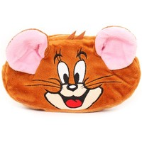 grey Tom and Jerry reversible plush pencil case - Pencil Cases - Stationery